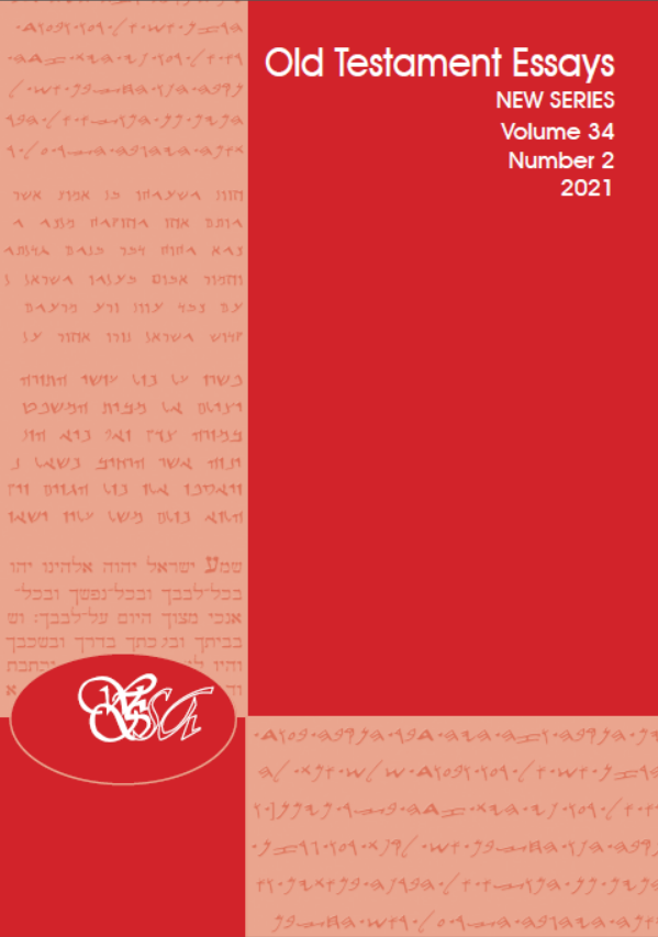 Front Cover of Old Testament Essays, Volume 34, Issue 2, 2021